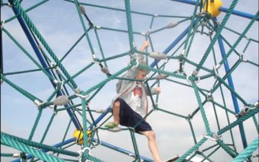 Super Cool Climbing Ball at Pflugerville Lake