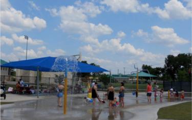 Sprinkler Fun at Bledsoe Park in Leander