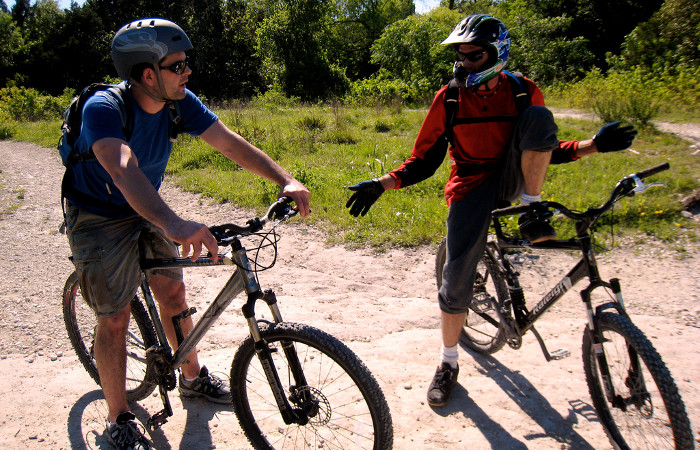 Two bikers at Walnut Creek Park in North Austin. Photo: Flickr user Bruce Turner, creative commons licensed.