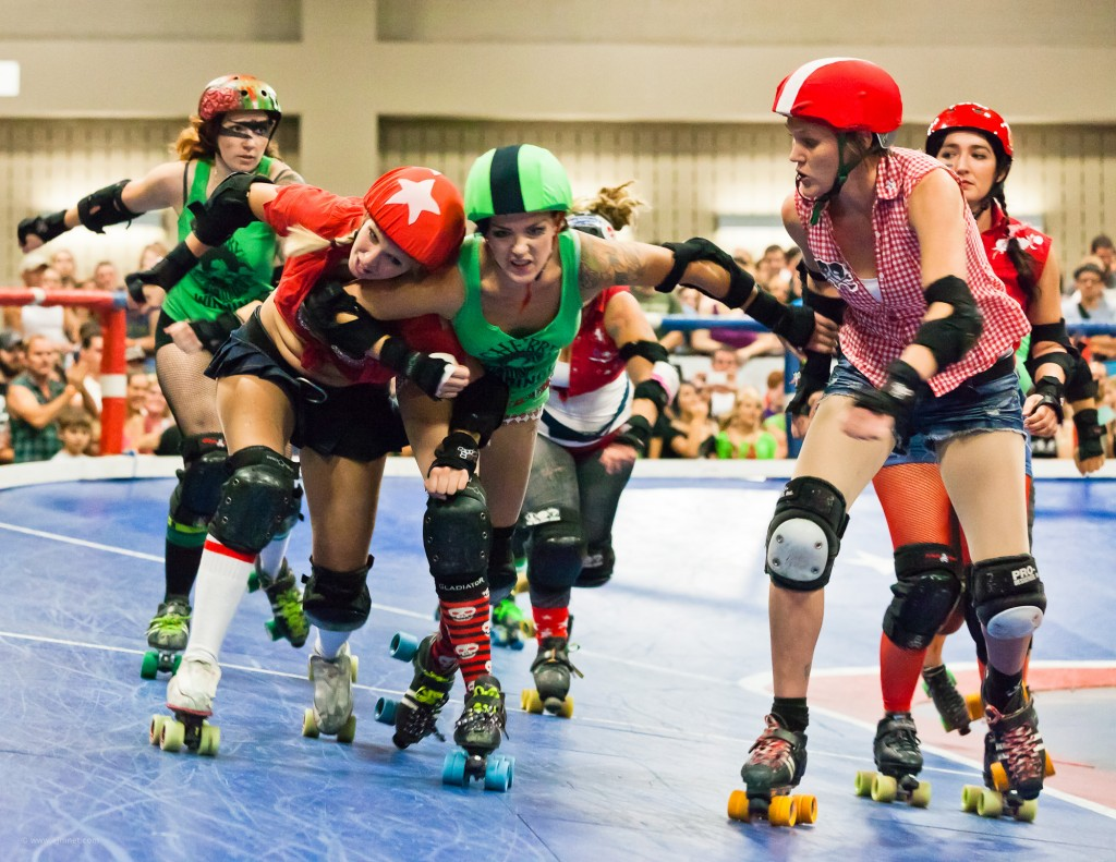 Rhinestone Cowgirls vs Cherry Bombs, 8/27/2011. Photo: Flickr User Earl McGehee, creative commons licensed