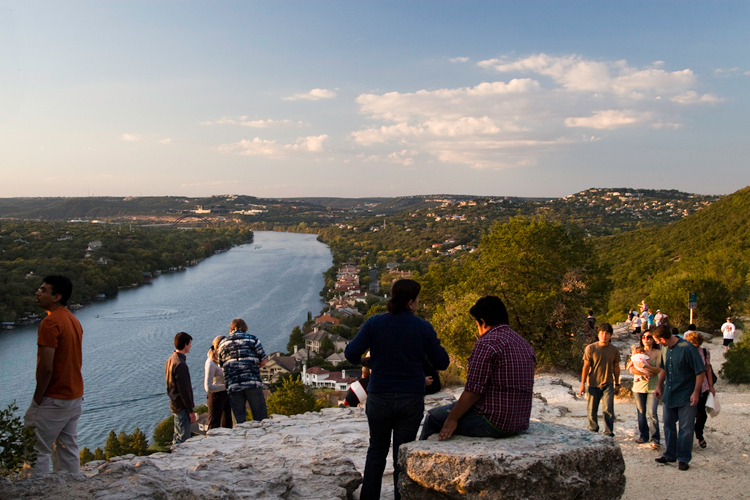 mt bonnell mount mountain austin hiking hike trail sunset view