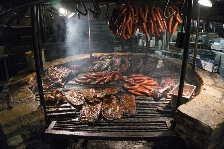 county line bbq barbecue salt lick sausage ribs brisket