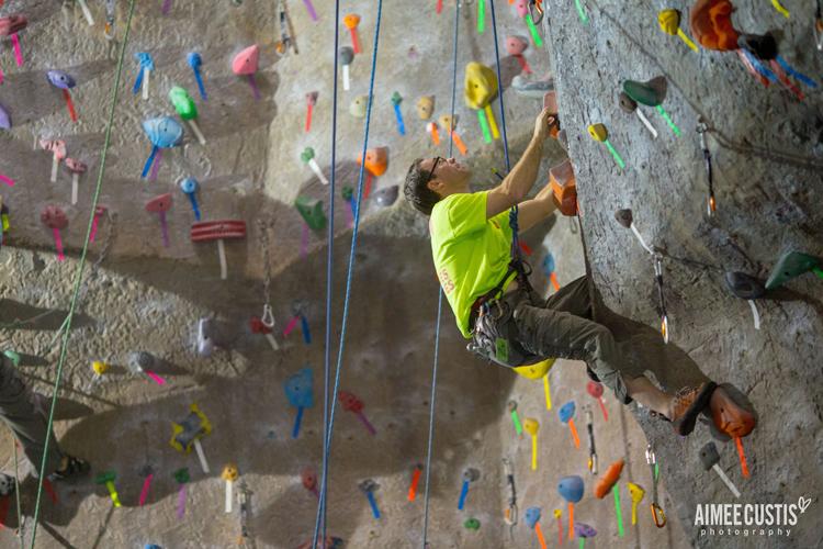 rock gym indoor rock climbing bouldering rope harness belay