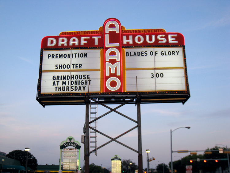 alamo drafthouse beer movie food film flick