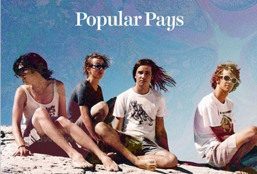 The band Tame Impala, in an Instagram shot with the Popular Pays app.