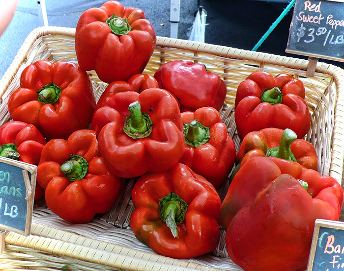 red bell peppers spicy jalapeno