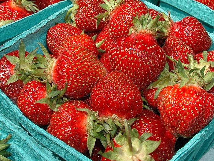 strawberries fresh fruit