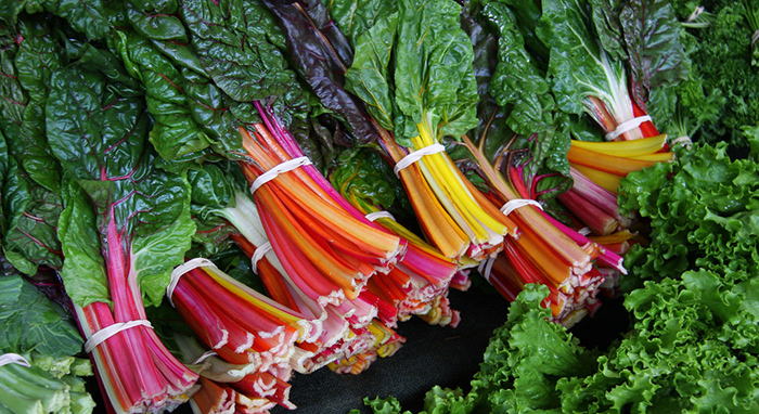 swiss chard greens salad