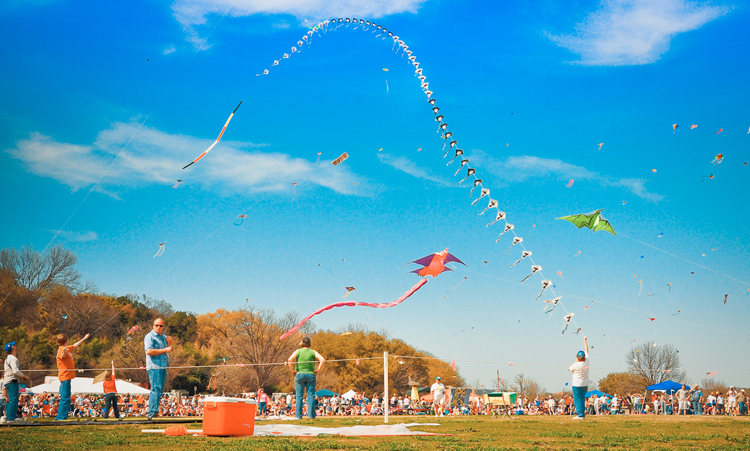 zilker park kite fest festival
