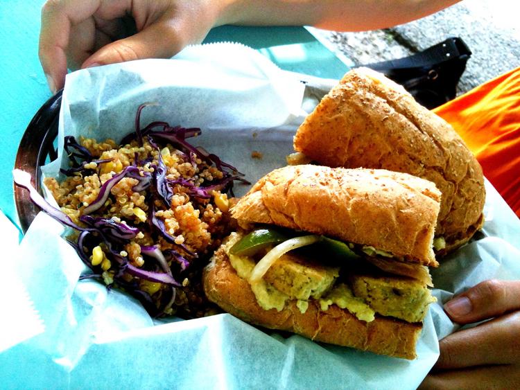 counter culture vegan vegetarian mother's cafe garden