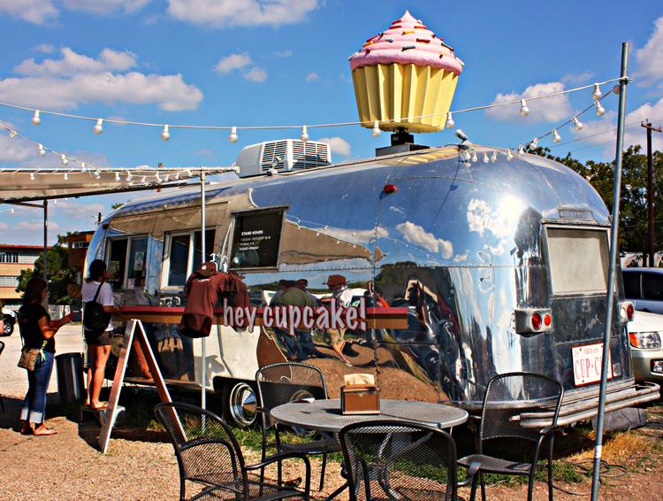hey cupcake gourdough's donuts bakery baked goods trailer quack's 43rd street