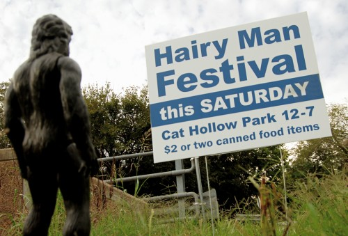 hairy man festival bigfoot yeti sasquatch sighting