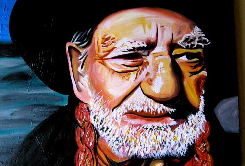 A painting of Willie Nelson, by Flickr user K B, creative commons licensed. https://www.flickr.com/photos/katebarton2/3121533608/in/photolist-5KQFbY-6AdqNR-6Ahy9A-5BxXpt-6Adn9B-6AdnD6-biveLP-6QACsA-5i8K33-5i4qPr-5i4vz2-8e94rq-fhNX1-5i4wzx-5i4tka-5i4Ms2-5i8NcE-5i8SaQ-5i4vfK-5i4x7i-5i4pKg-5i8Nv7-5i4rVg-5i4sQc-5i4qoe-5i4rC8-5i4w5X-5i4qgH-5i4sor-5i8Lfh-5i4r4B-5i8LJy-5i8L2q-5i4u3K-5i4uaa-5i8NzN-5i4pBc-5i4vug-5i4uhK-5i4sWR-5i8PW5-5i4vmt-5i8M39-5i4pQz-5i4q9V-5i4sC8-5i8LuL-5i4tWH-5i4wnK-5i4v9V