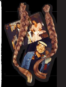 Willie Nelson's braids. Photo: Guernsey's.