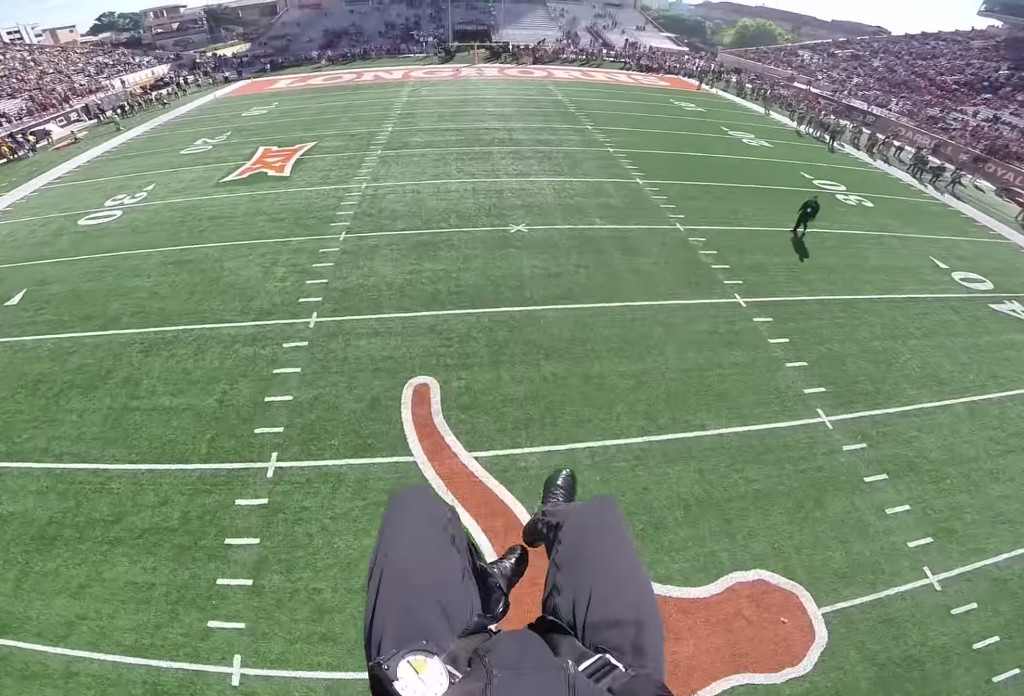 This Video Will Make You Feel Like You're Parachuting Into A Longhorns Football Game