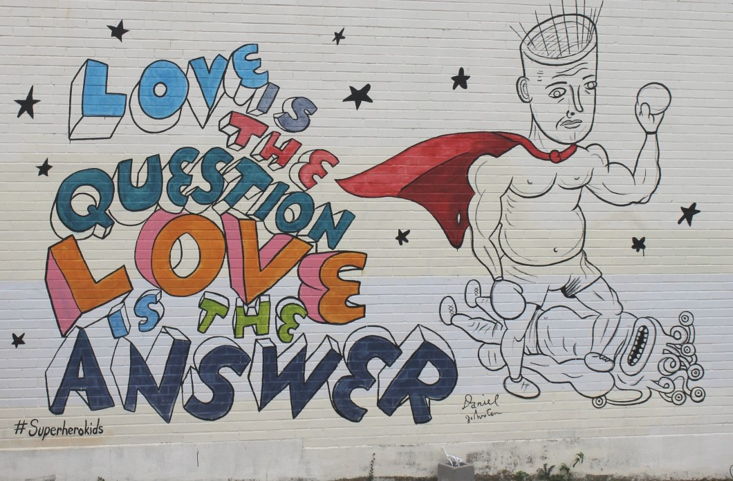 The New Daniel Johnston Mural At Nau's Is Pretty Flippin' Sweet