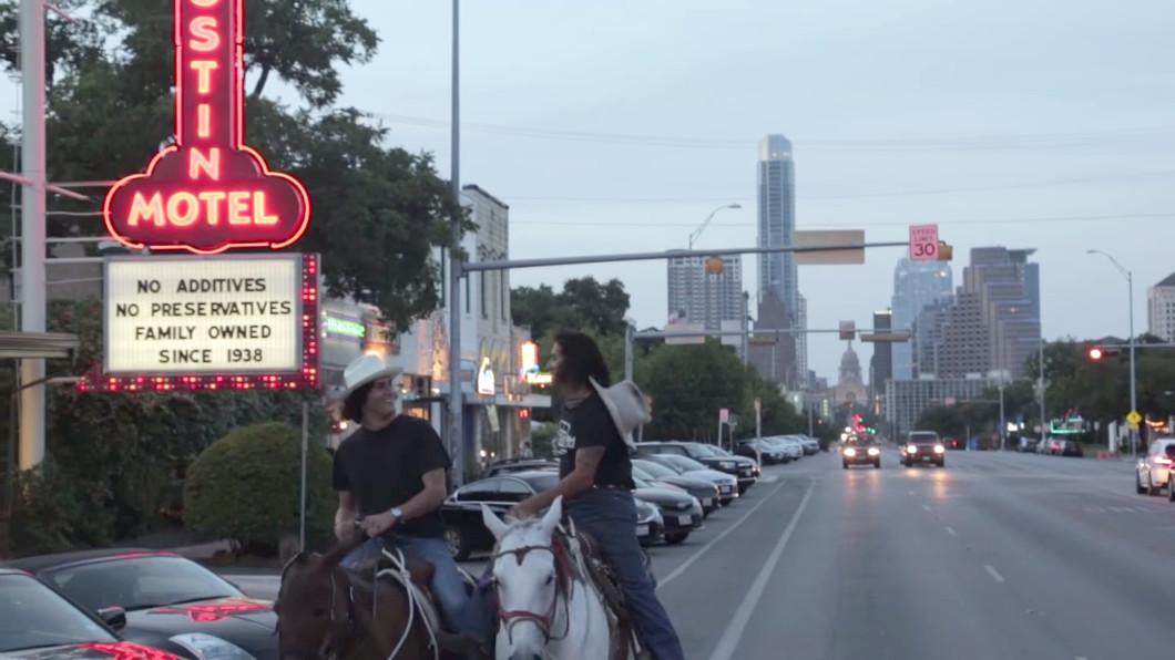 "A screenshot from Julian Acosta's music video ""This Town,"" via YouTube."