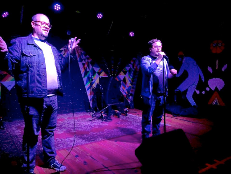 """Micheal Foulk and Ralph Hardesty  host """"Greetings From Queer Mountain."""" Courtesy photo."""