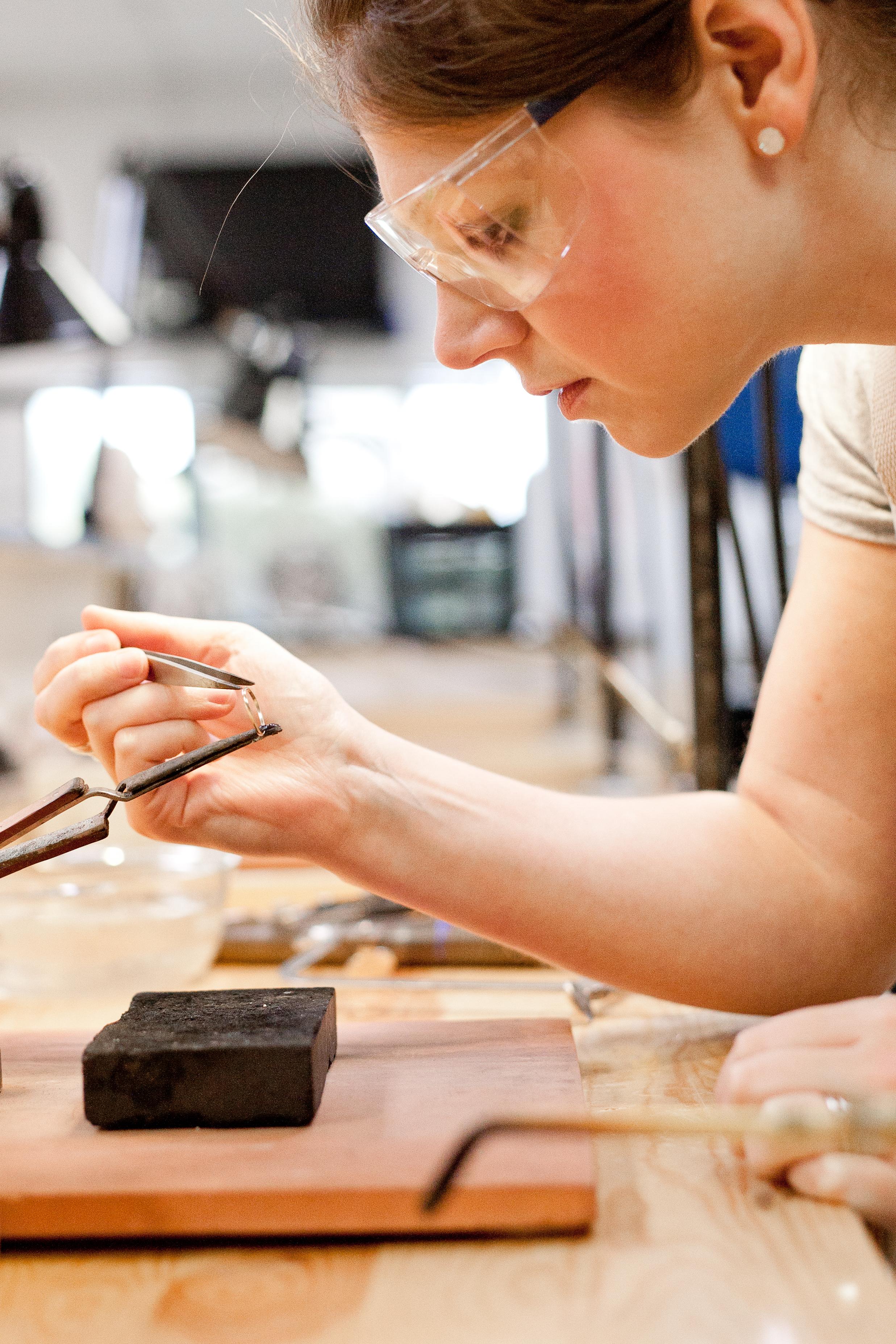 Breanna Whitener works in her studio. Photo: Jenni Roberts, courtesy Jenni Roberts Photography.