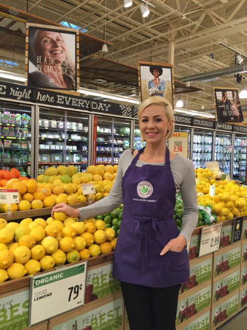 Emily Wylie on the job at Whole Foods Market.