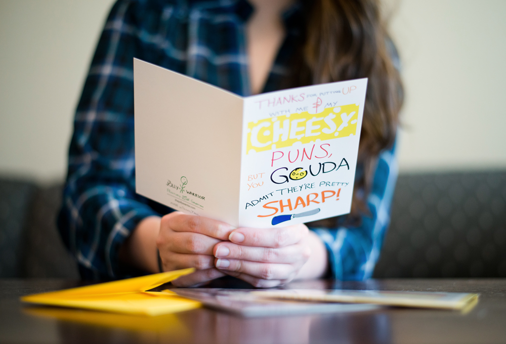 funny humor comic quirky unique weird card gift cheese pun witty beard