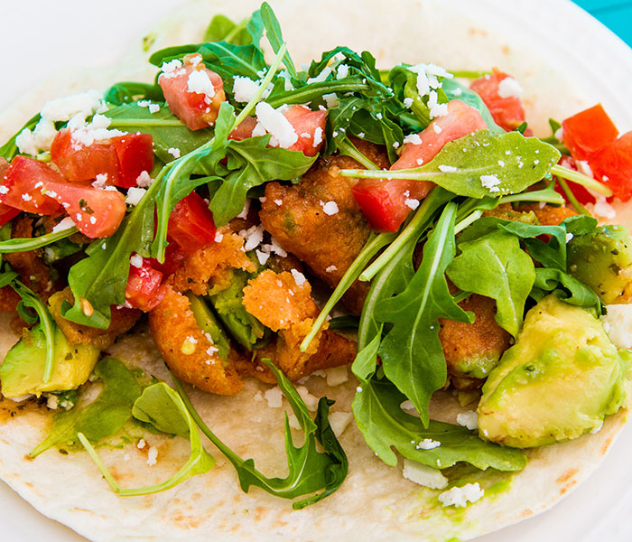 Fried avocado taco. Photo: Courtesy, mellizoztacos.com.