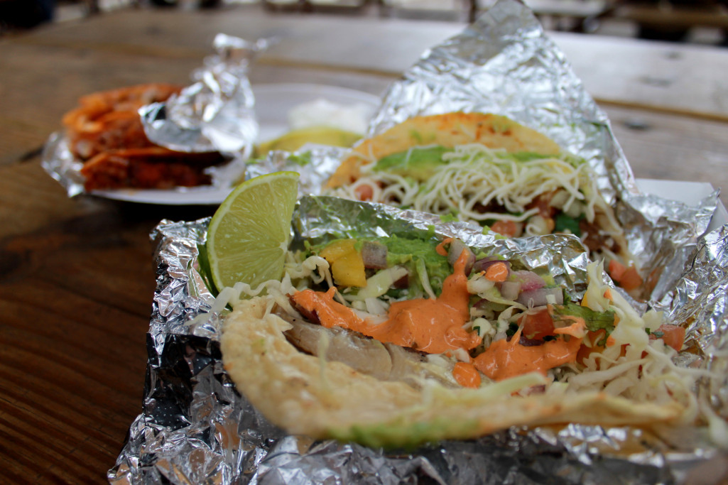 Fish and steak tacos from Veracruz All Natural. Photo: Stephen C. Webster.