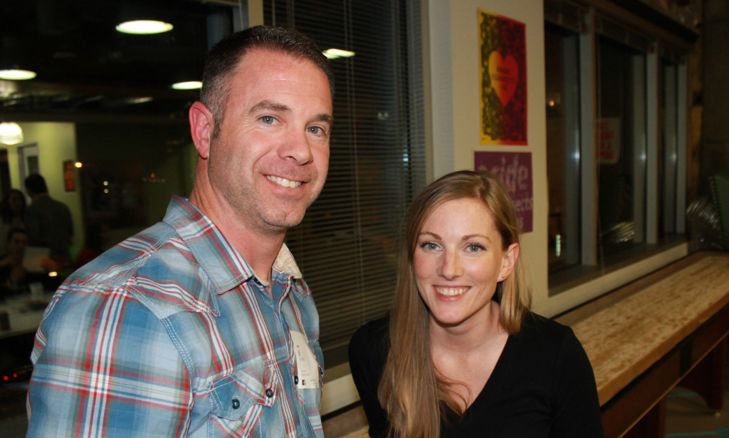 Detective J.J. Schmidt of the Austin Police Department's Missing Persons Unit and Tara Schmidt, his wife.
