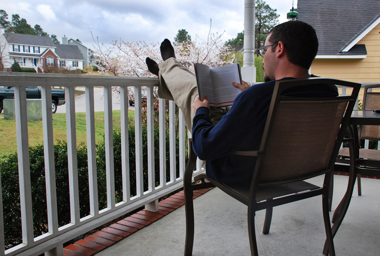reading good book read nook rain rain go away come again another day