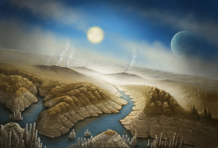 An artist's rendition of what Kepler-452b's surface might look like.