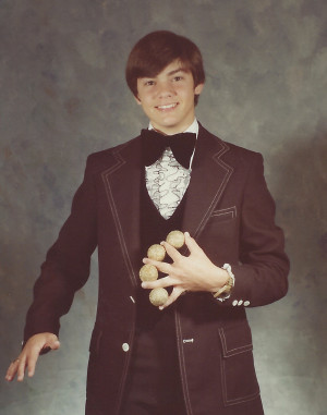 Anderson's first official magician photo.