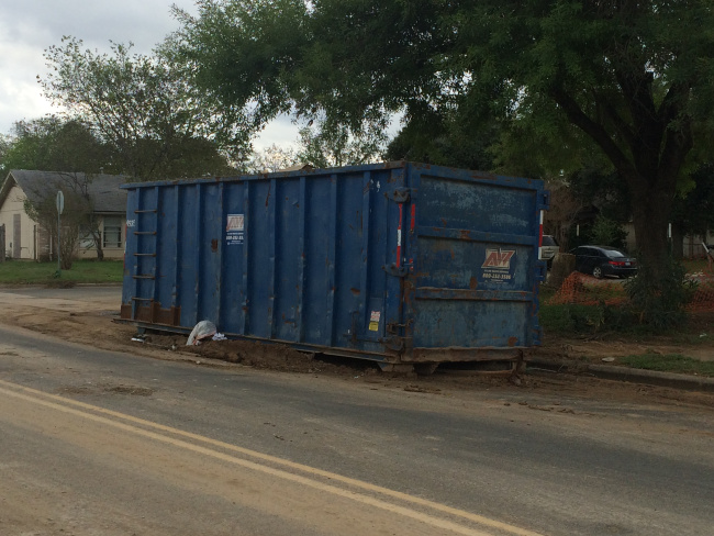 Dumpster Shortage In Austin; Dozens Requested As Flood Threat Continues