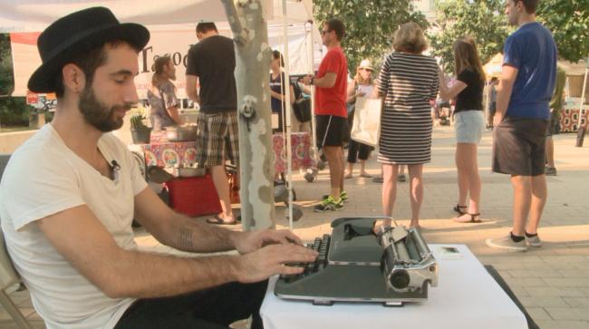 This Austin Poet Creates Original Prose At The Farmer's Market