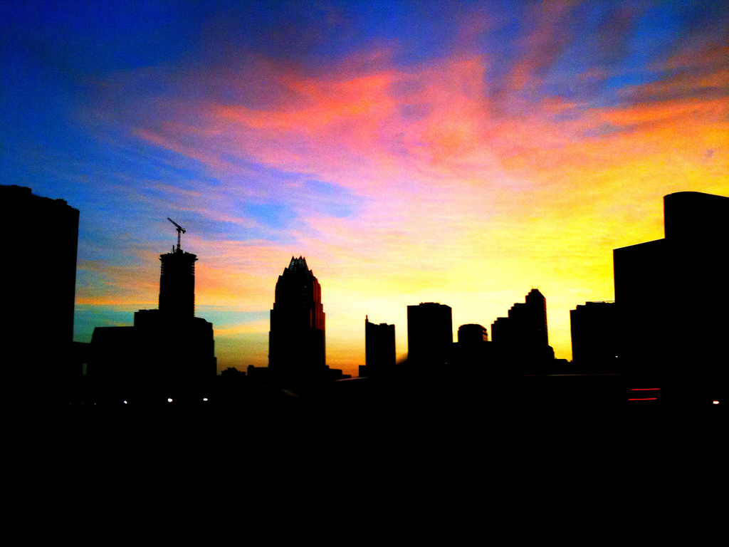 An Austin, Texas sunset. Photo: Flickr user Bruce Turner, creative commons licensed.