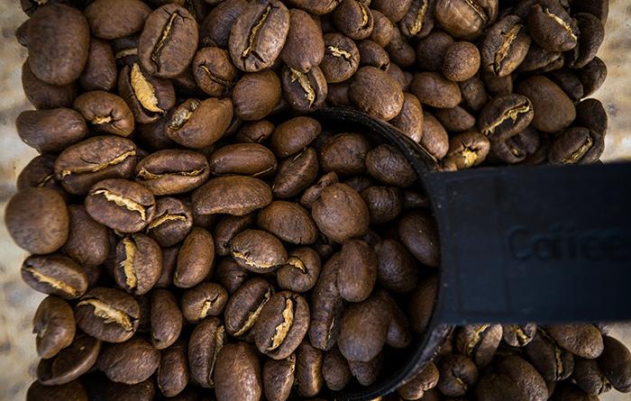 coffee beans bag espresso french roast black