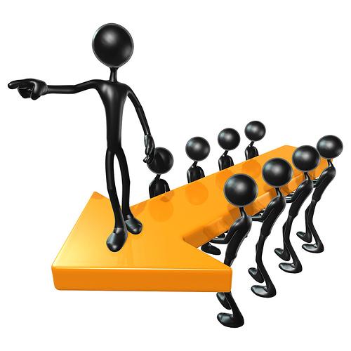 3D_Team_Leadership_Arrow_Concept
