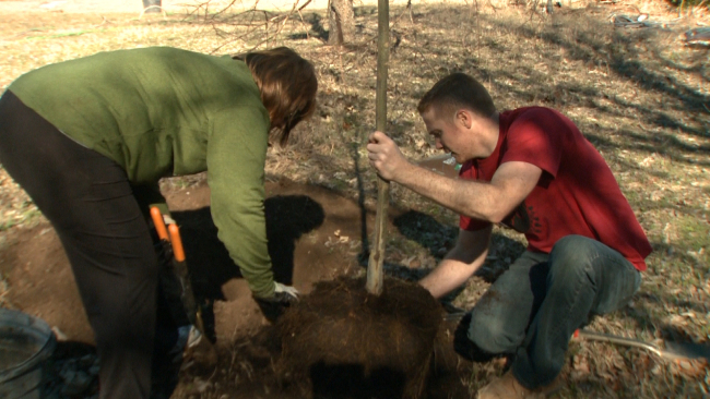 'RETREET' Volunteers Re-Plant 200 Trees Destroyed By Blanco River Flooding