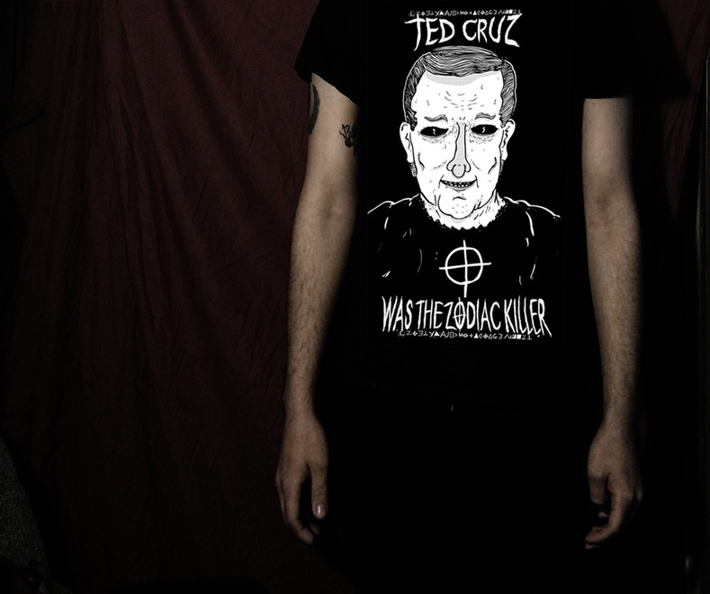 Zodiac Killer T-Shirts Making Country Look at Cruz in a Whole New Way