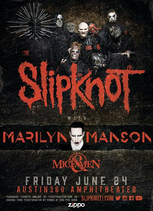 Austin com Slipknot with Marilyn Manson and Of Mice & Men