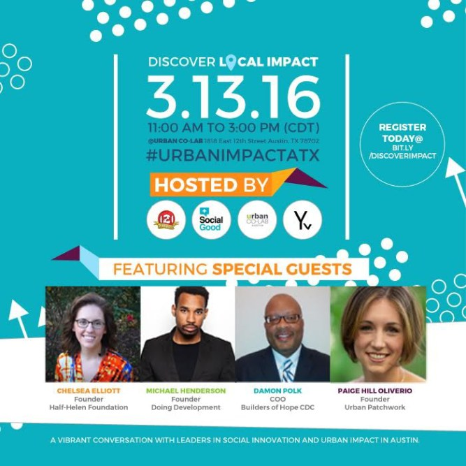 Come party with a purpose Sunday, March 13 at Urban Co Lab (Photo Credit: Urban Co Lab)