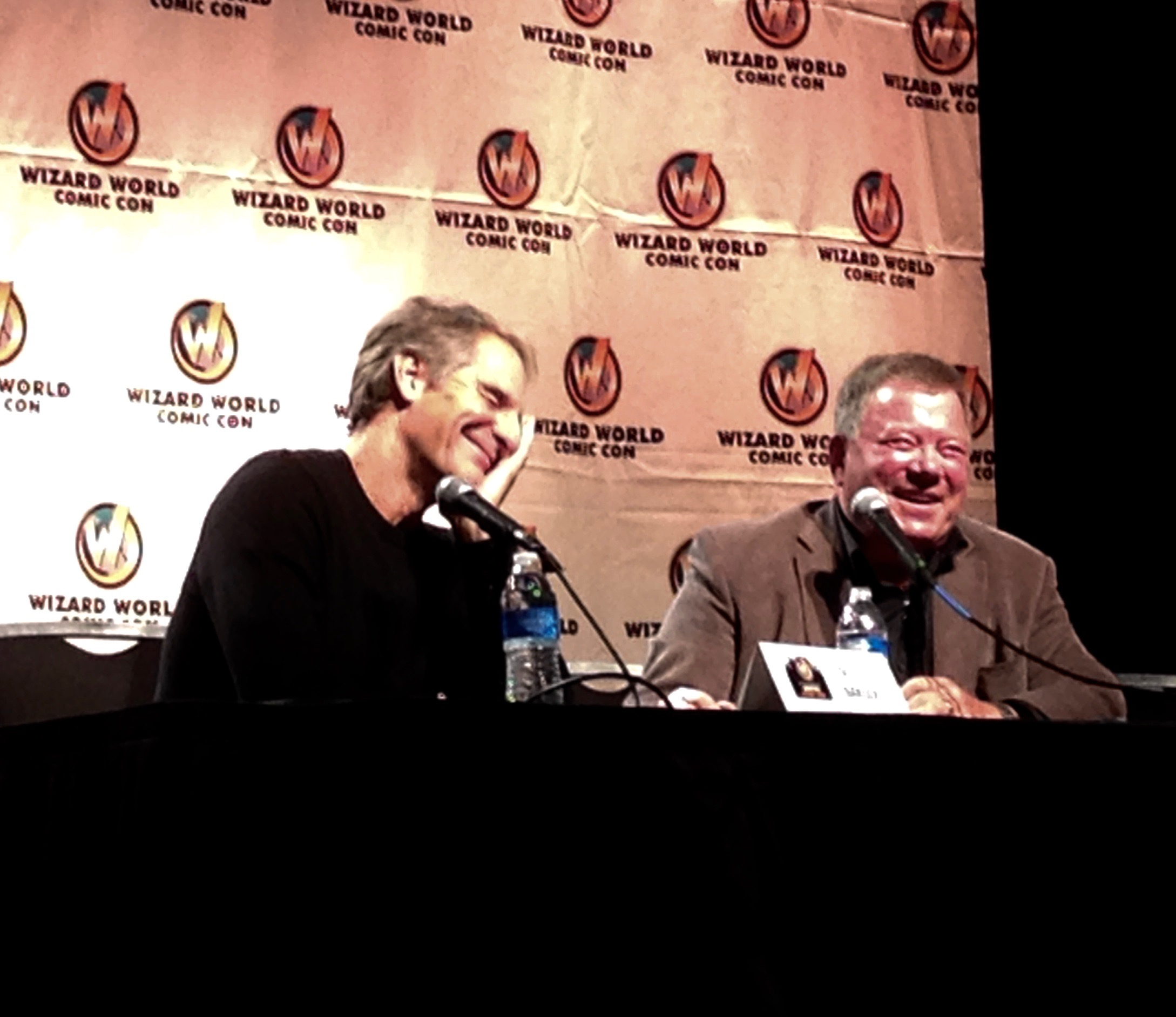 Scott Bakula and William Shatner at Austin Comic Con