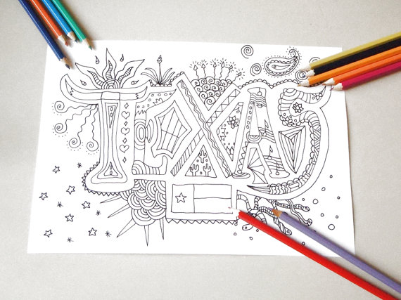 austincom we totally love these austin inspired coloring books - Texas Coloring Pages