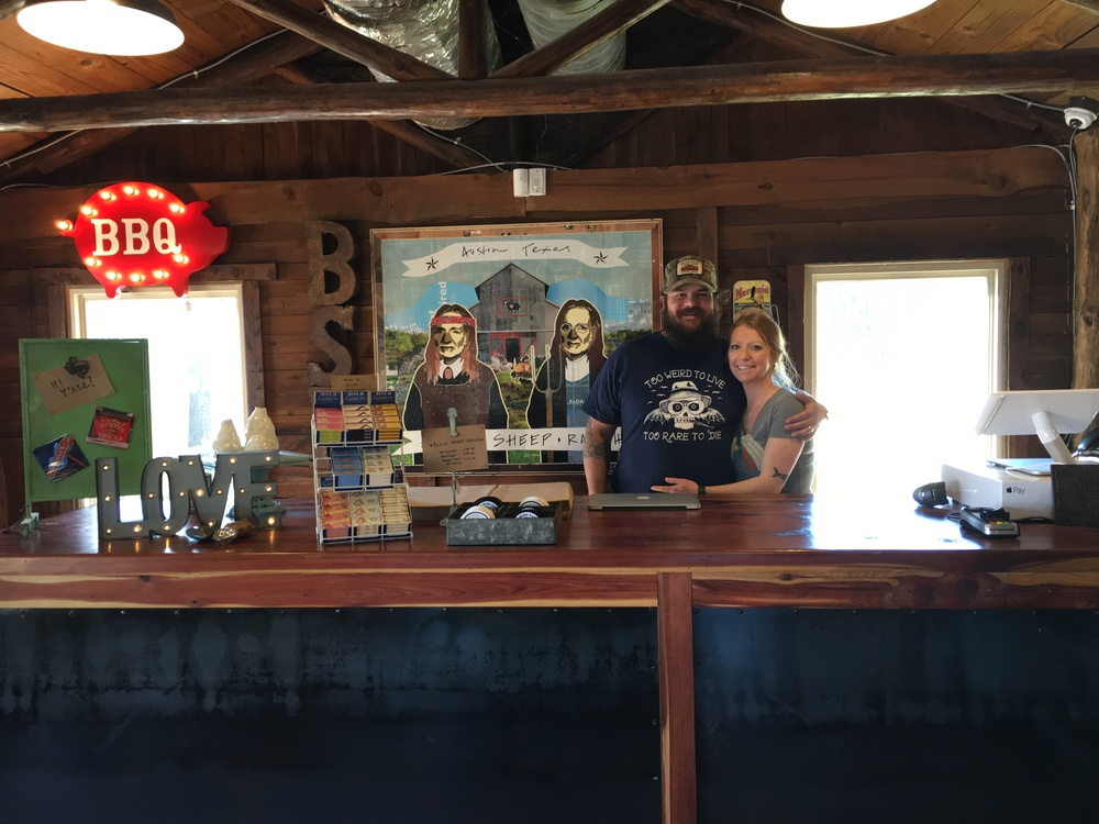 Owners Donny and Casi Houseman at the register of Black Sheep Ranch. Photo: Courtesy, Black Sheep Ranch.