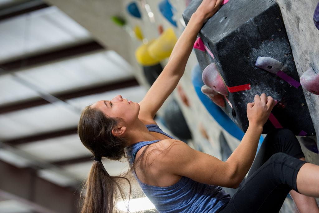 rebecca bennett maya madere rock climbing austin rock gym bouldering