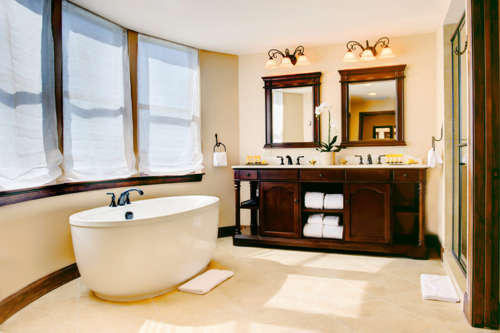 A guest bathroom at Hotel Granduca Austin. Photo courtesy Hotel Granduca Austin.