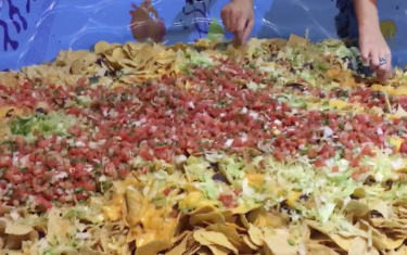 This Austin Birthday Boy and Friends Dove Right Into a Kiddie Pool Full of Nachos
