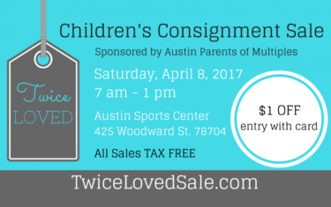 We've Got Coupons And A Giveaway For The Twice Loved Children's Consignment Sale!