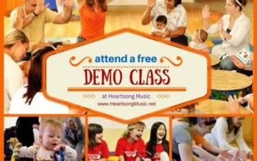 FREE Heartsong Music Demo Classes All Over Town This December!
