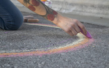 Watch Art Come To Life At The Round Rock Chalk Walk Festival