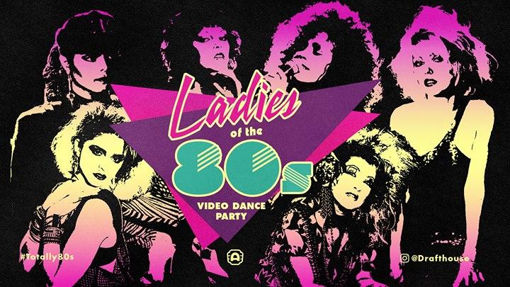 Austin com Ladies of the '80s Music Video Dance Party
